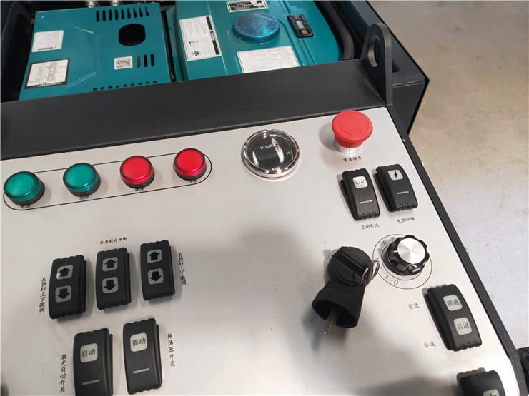 the control plane of the ev850-2y laser screed
