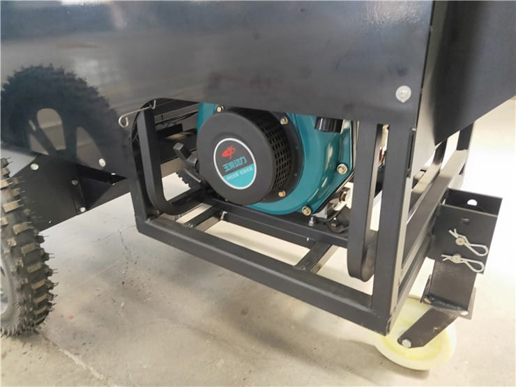 the engine of the ev850-2y laser screed