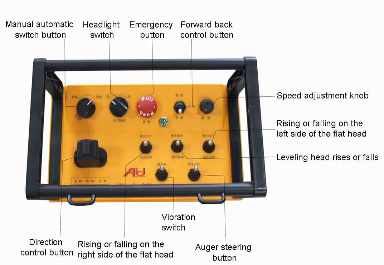 S840 Remote control laser screed button description
