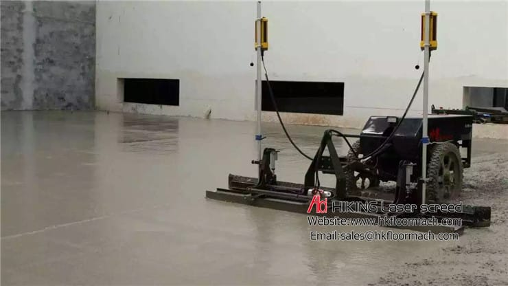 The range of application for the two-wheeled concrete laser screed 2