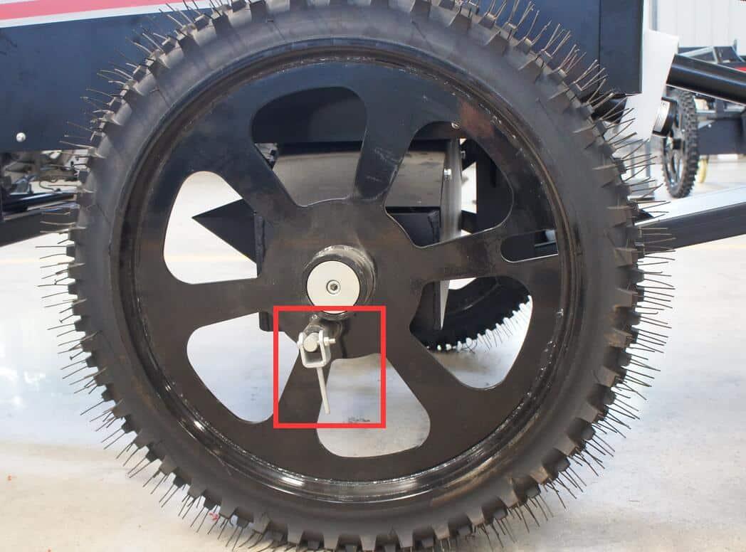 Wheels of the walk behind laser screed machine