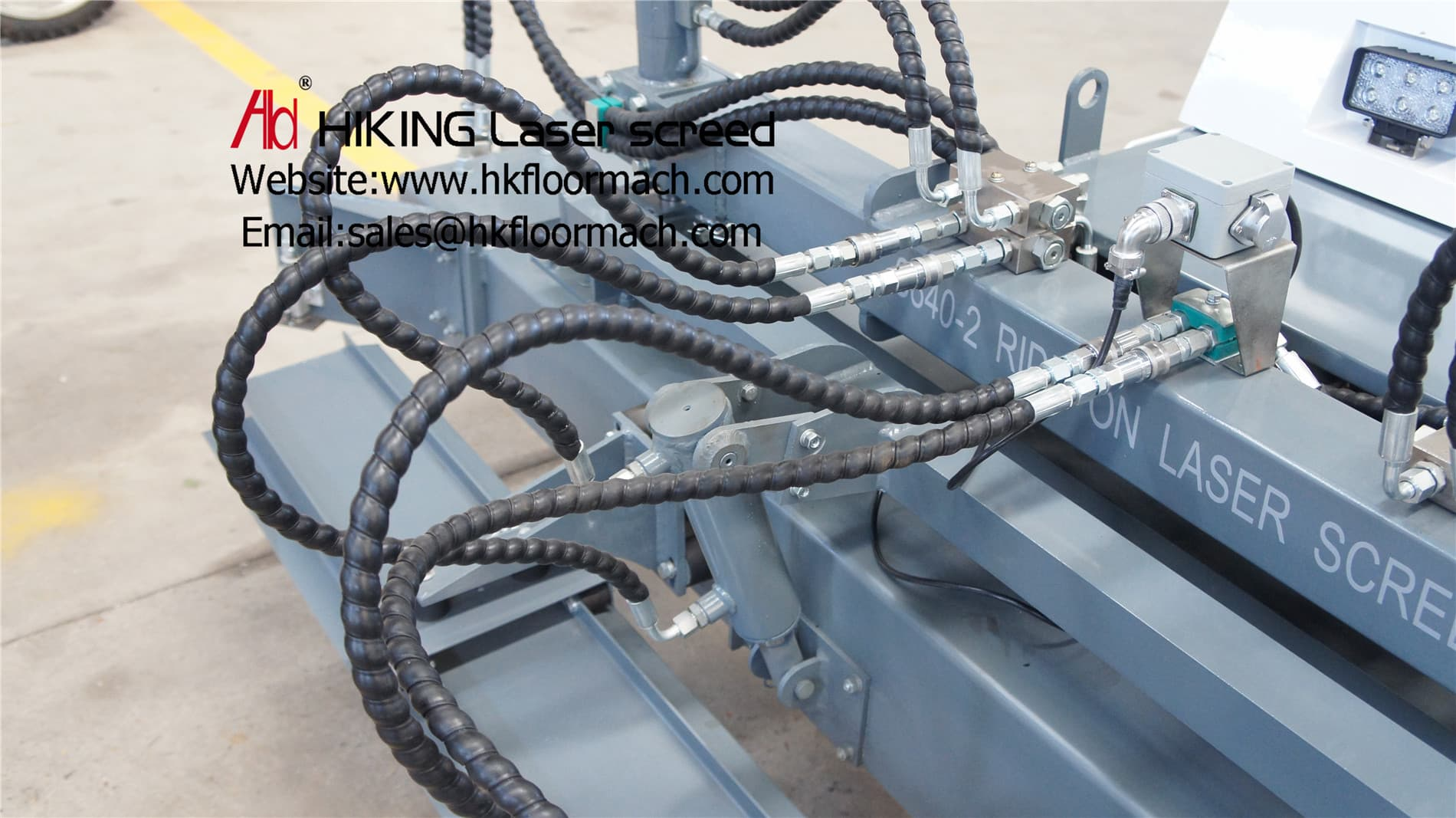 work head of the concrete laser screed machine